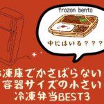 【冷凍庫でかさばらない!】 容器サイズの小さい 冷凍弁当BEST3